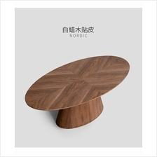 565611193259	Scandinavian home style solid wood coffee table oval