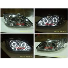 Toyota CAMRY 02 Head Lamp Dual CCFL Dual Projector [Chrome/Black]