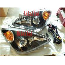 DEPO Toyota Avanza  F601 `03 Head Lamp Crystal Projector Black