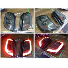 Perodua Axia LED Light Bar C Style Tail Lamp [Smoke]