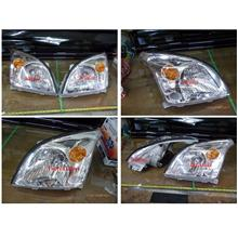 DEPO Toyota '03 Prado FJ120 Crystal Chrome Head Lamp