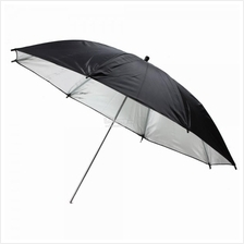 33inch Flash Light Reflector Black Silver Umbrella