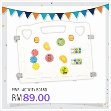 Coby Haus Safety Play Fence Additional Panel - Activity Board