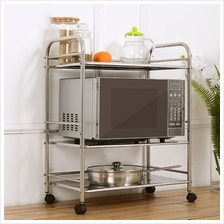 3 Layer Function Rack Stainless Steel Kitchen Storage And With Wheel