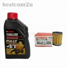 YAMALUBE 4T Fully Synthetic Yamaha Motor Oil 10W-40 1Litre + Oil Filte