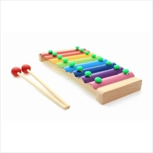 Baby Kids Wooden Multi-Color Xylophone Wooden Musical Instrument Toys