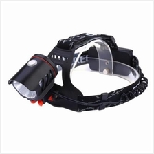 HIGH POWER DC 4.7V 30W 800LM CREE T6 RECHARGEABLE LED HEADLAMP (BLACK)