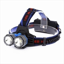 DC 5V 30W 2000LM 3 MODES RECHARGEABLE LED DUAL HEADLAMP ZOOMING LIGHT