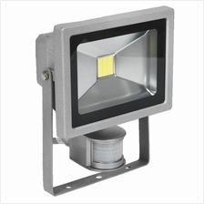 Sealey Floodlight with Wall Bracket & PIR Sensor 20W COB LED 230V