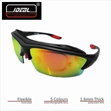 4GL Ideal PROEX 10-in-1 Sport Sunglasses 1.6mm Thick Polarized Lens