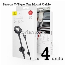 4 Units Baseus O Type Shape Car Mount Holder Cable Clip 3 in 1