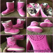 **incendeo** - Authentic CROCS Junior Pink Boot J1)