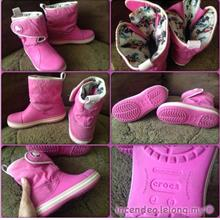 **incendeo** - Authentic CROCS Junior Pink Boot J3)
