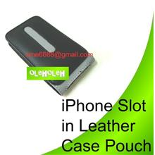 *iPhone Slot in Leather Case Pouch