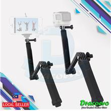 Universal 3 Way Monopod Grip Extension Arm Tripod Mount Action Camera