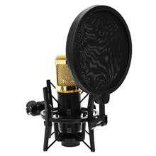 Y - 200 MICROPHONE AUDIO PROFESSIONAL SHOCK MOUNT WITH POP FILTER SCRE