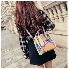 Ulzzang Candy Colour Laser Style Top Handle Crossbody Bag (3 Colours)