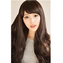 Long Curly Wig With Side Bang