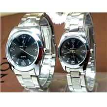 1 Pair master Polo Steel Battery Watch ( P-56 )