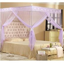 Mosquito Net Bed Canopy Lace Purple 5Ft