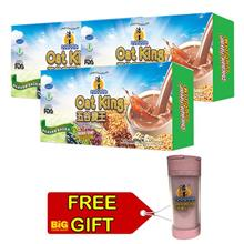 Oat King Chocolate Flavor 600G X 3 + FREE 1 Shaker Flask