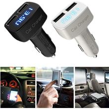 USB Car Charger 3.1A Output Dual Digital LED Universal + FREE GIFT