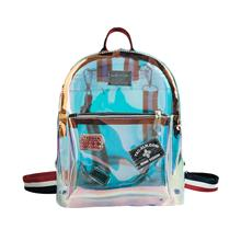 3TONES Strap Transparent Laser Style Jelly Backpack (2 Sizes)