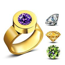 2017 New Fashion 4 Color Zircon Crystal Stone Interchangeable Rings