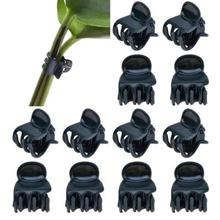100 Pack Orchid Clips Plant Orchid Support Clips Dark Green