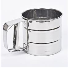 3-Cup Small Size Stainless Steel Rotary Hand Crank Flour Sifter