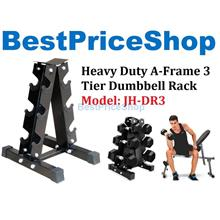 Heavy Duty A Frame Dumbbell Rack 3 Tier Holder Storage Stand JH-DR3