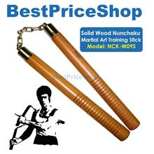 Solid Wood Nunchaku Martial Art Kung Fu Fighting Weapon Stick NCK-W09S