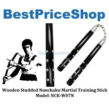 Wooden Studded Nunchaku Martial Art Bruce Lee Fighting Stick NCK-W07N