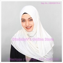[DindabyV] Solid Color Cotton Jersey Shawl / Sacrf / Hijab CQ812B