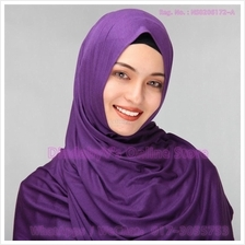 [DindabyV] Solid Color Cotton Jersey Shawl / Sacrf / Hijab CQ812E