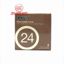 Care Chocolate Love Condoms 3pc with Chocolate Fragrence
