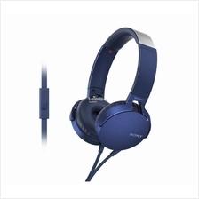 SONY Headset Wired EXTRA BASS (MDR-XB550AP/L) BLUE