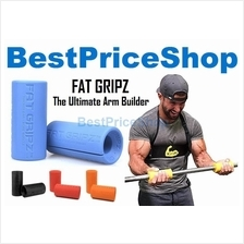 Gym Grade Fitness Fat Handle Grip Dumbbell Barbell Bar Olympic Gripz