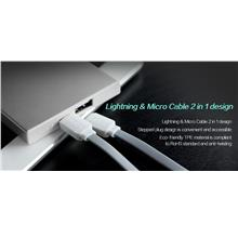 Rock Charging Cable Lightning & Micro Cable 2 in 1 Design