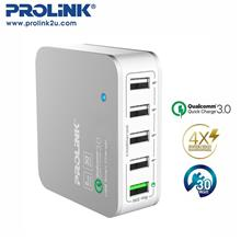 PROLiNK PDC53001 30W 5-Port USB Charger with IntelliSense)