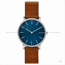 SKAGEN SKW6446 Men's Hagen Slim Interchangeable Leather Blue Brown