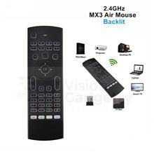 MX3 L Airmouse Air Mouse Blacklit Wireless Keyboard Android TV Box