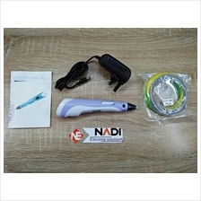 Purple 3D Pen Set With Display, PLA Filament Ink, Adapter and Guide Sheet