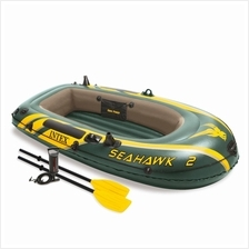 INTEX 68347 Seahawk 2 Person Inflatable Boat Set FREE 2x Oars