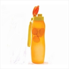 Tupperware  New Slim Eco Bottle (1) 1L with Strap - Orange