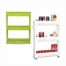 Multipurpose 3-Layer Portable Storage Rack with Wheels