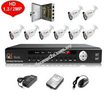 CCTV 8-CH HD DVR with IR BULLET Camera Package (W1-0D8L)