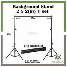 Studio Background Stand Support Tripod 2 x 2 M Portable Handle Kit