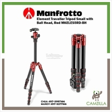 Manfrotto Element Traveller Tripod Small with Ball Head, Red MKELES5RD