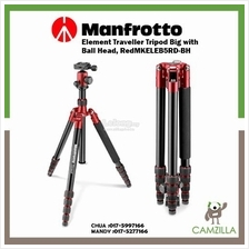 Manfrotto Element Traveller Tripod Big with Ball Head, Red MKELEB5RD